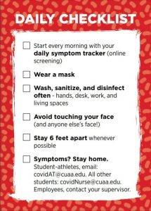 Covid daily checklist