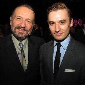 Charles Numrich and his son, Seth, at the 2011 Ivey Awards in Minneapolis. Seth is the youngest person to ever be admitted to The Juilliard School's drama program.