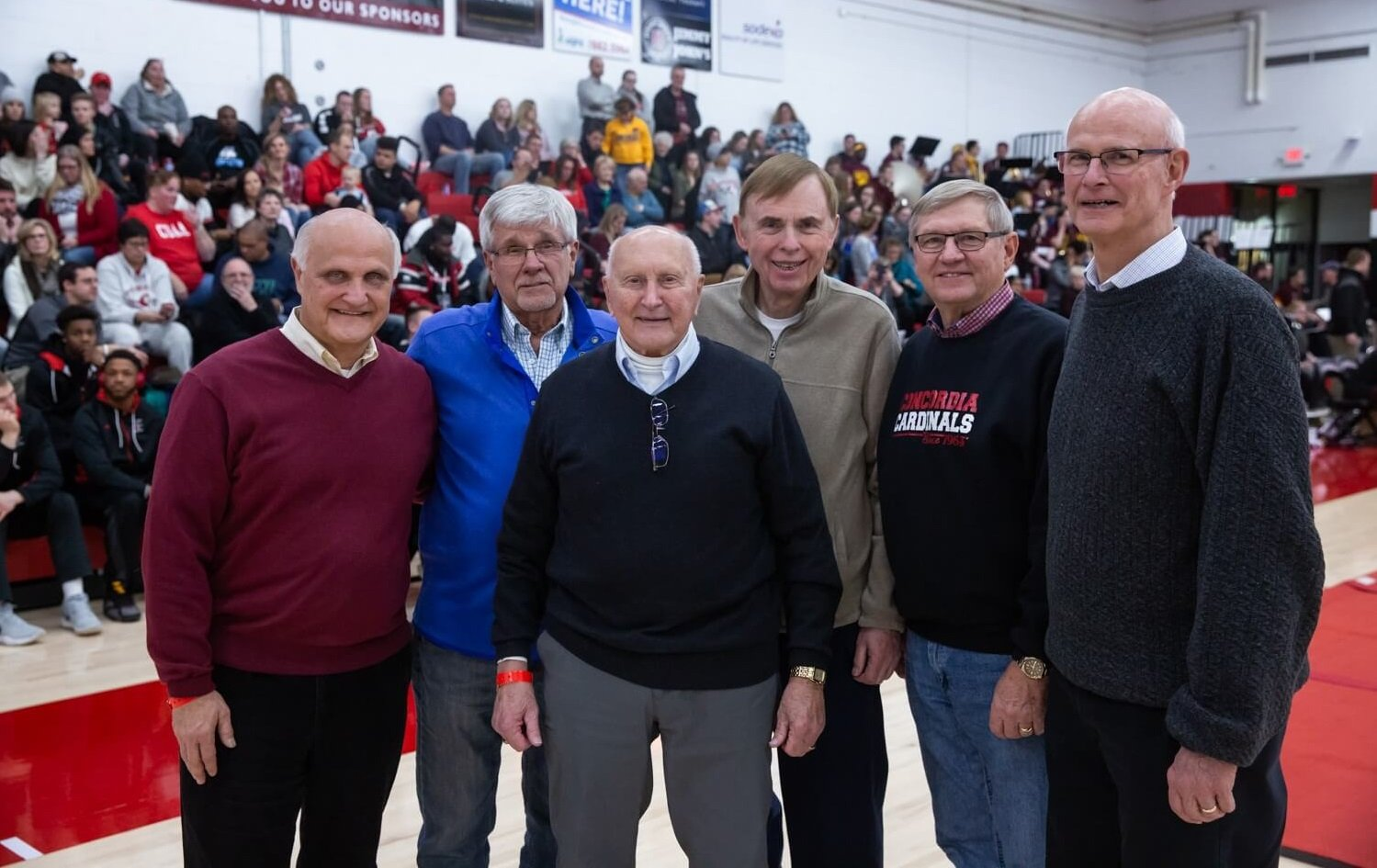 Former players surprise CUAA's first athletic director Dave Wenzel with scholarship endowment