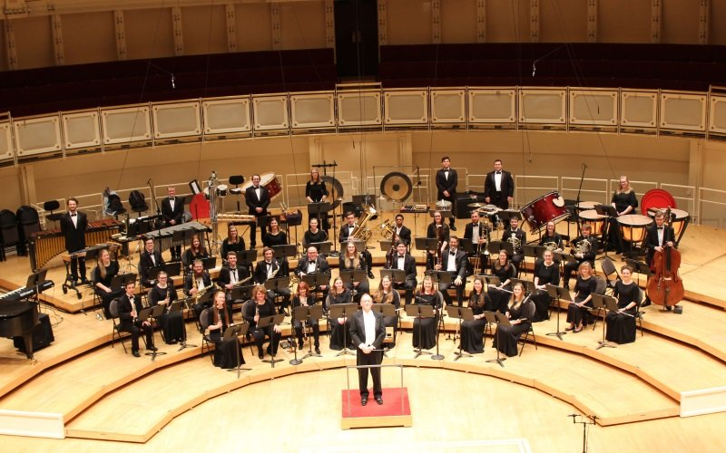 CUAA Wind Ensembles performed on April 1 at the 2018 Chicago International Music Festival.