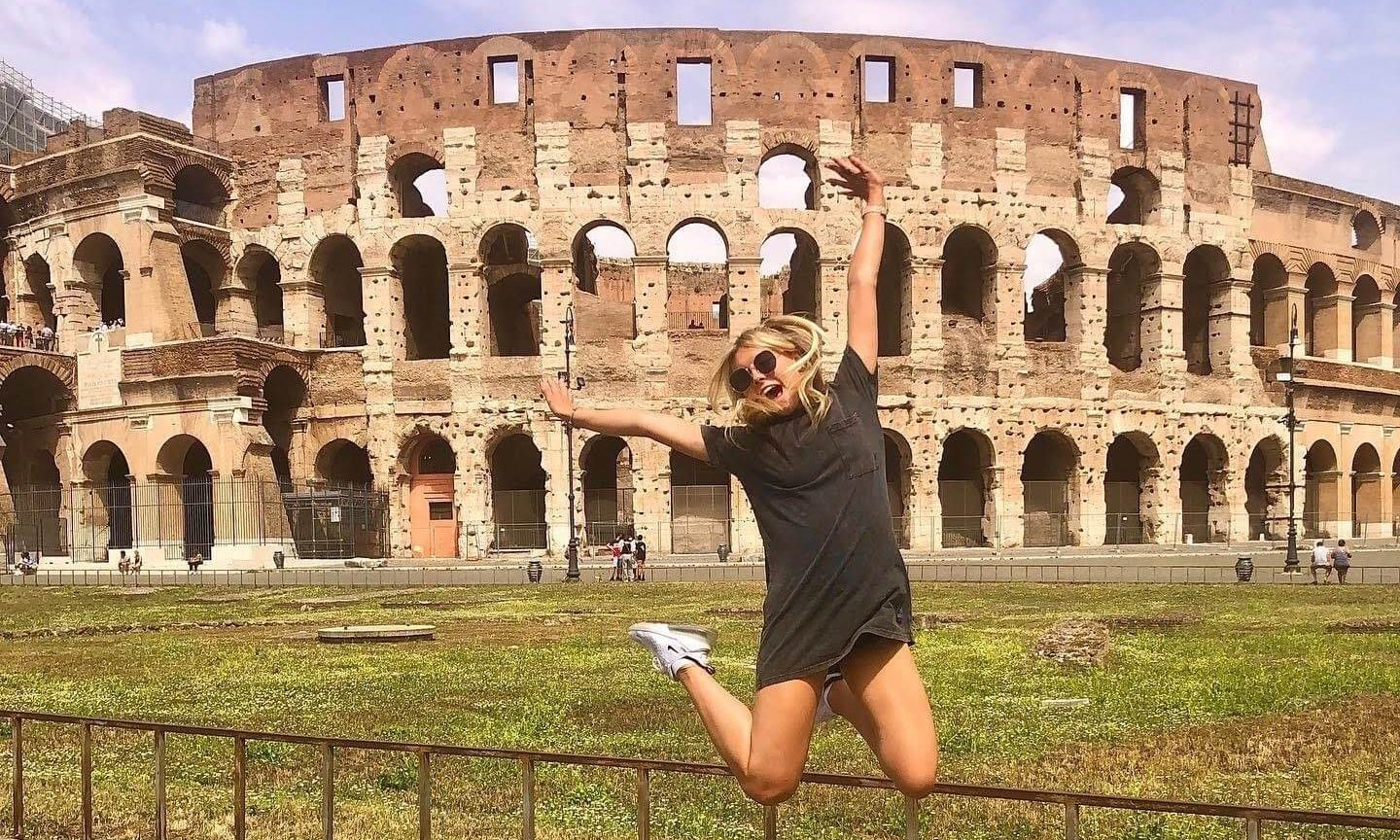 Breanna studying abroad in Italy