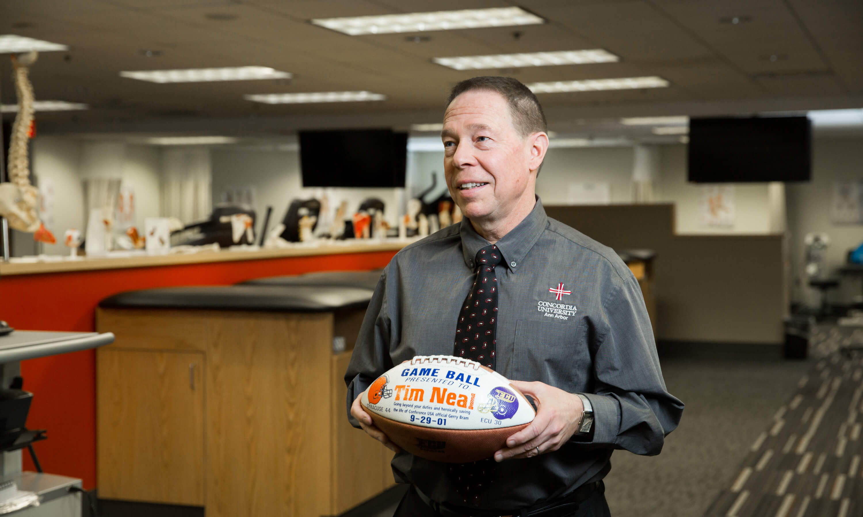 An expert in the field combines faith and excellence in the CUAA classroom