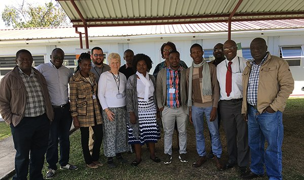 Marilyn Meell with other faculty members during trip to Zambia
