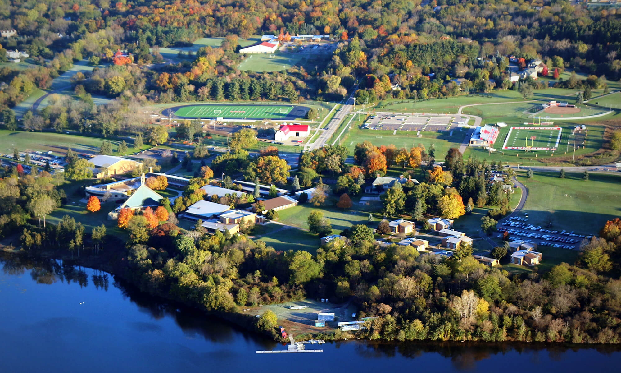 Top 12 scenic spots on CUAA's campus