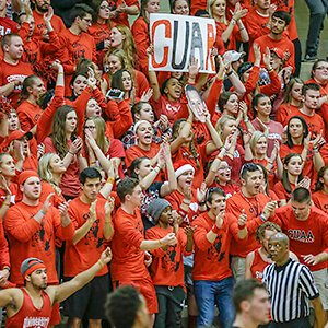 Hundreds of CUAA students and fans travelled to Wisconsin to cheer on the Cardinals
