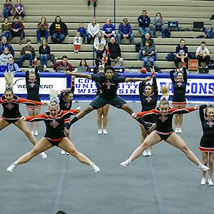 CUAA cheer team also took 1st place for the tournament's inaugural cheer competition.