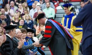 Award recipients recognized at commencement for excellence and service