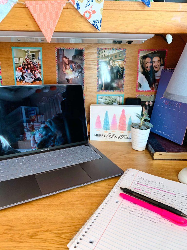 Study at desk