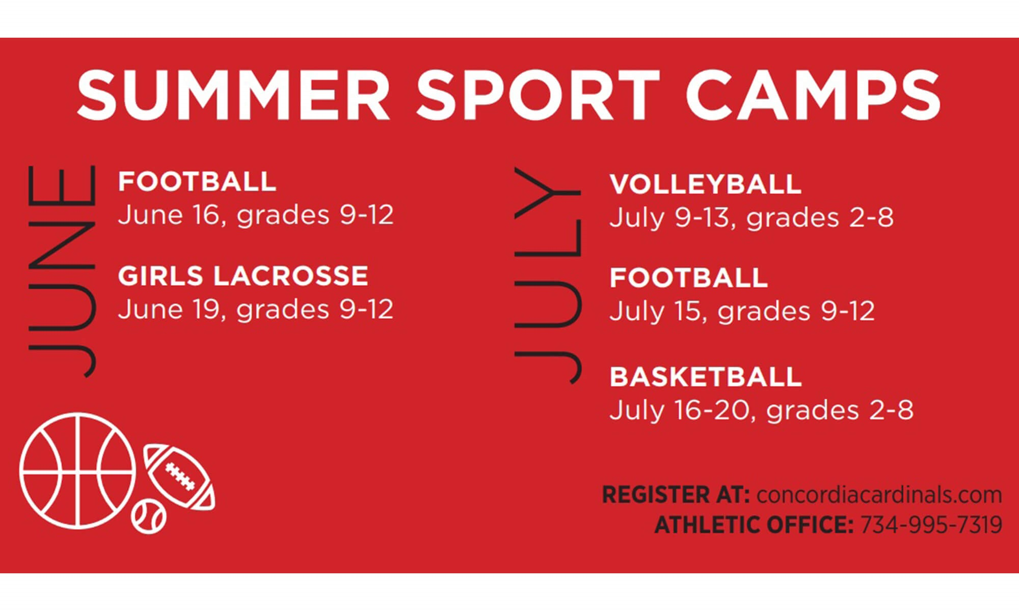 CUAA sports camps